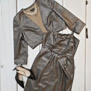 🆕 Tahari 2-piece Metallic Dress Jacket Size 10
